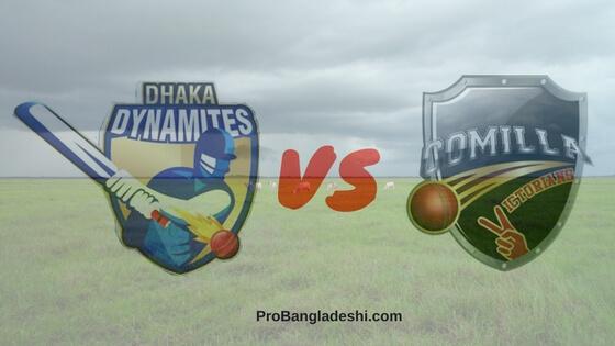 Dhaka Dynamites vs. Comilla Victorians Match Prediction