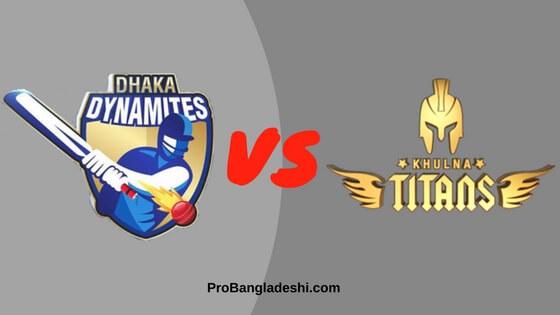 Dhaka Dynamites vs. Khulna Titans Match Prediction