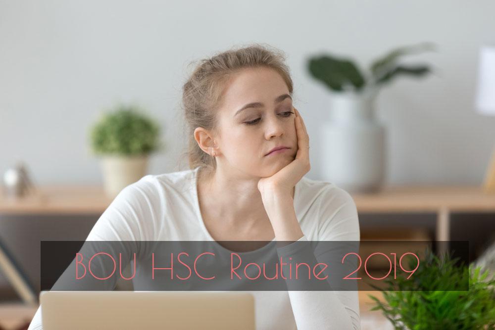 BOU HSC Routine 2019
