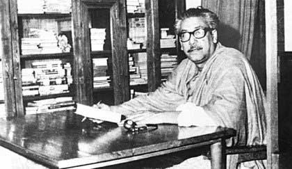 Sheikh Mujibur Rahman in his reading Room