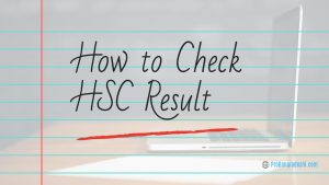 How to Check HSC Result