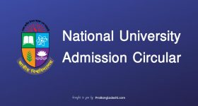 National University Admission Circular