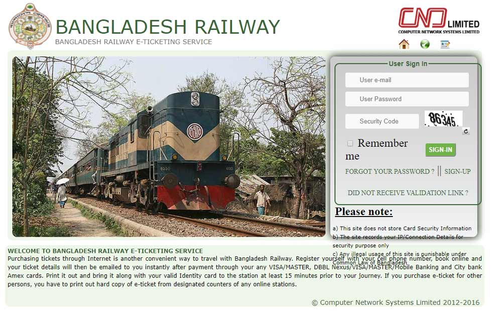 Official Website of Bangladesh Railway