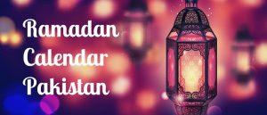 Ramadan Calendar Pakistan