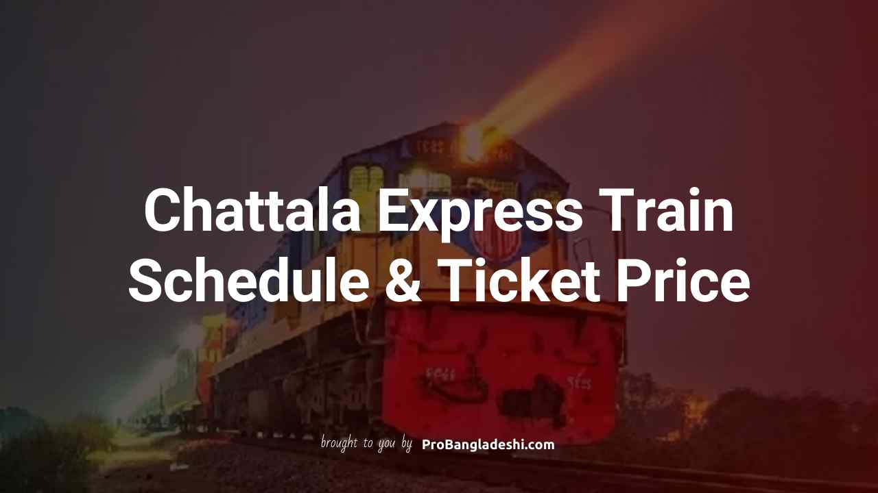 Chattala Express Train Schedule